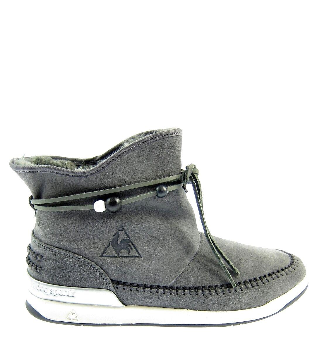 LE COQ SPORTIF Damen,Damens,Stiefeletten,Schlupf,Schuhe,Schuhes,Warm,Leder,Grau,NEU Günstige und gute Schuhe