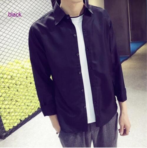 Vogue Hommes coréenne à manches longues Slim Fit Shirt tendance Casual Business Shirts automne