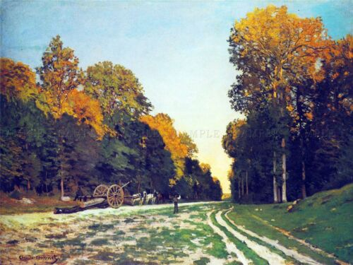 CLAUDE MONET ROAD FROM CHAILLY TO FONTAINEBLEAU OLD ART PAINTING PRINT 636OMA