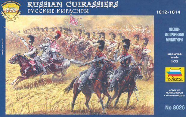 Zvezda 1/72 Napoleonic Russian Cuirassiers # 8026