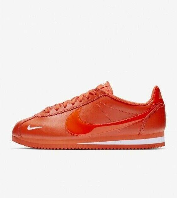 Nike  Classic Cortez Premium Team arancia bianca 905614 -802 Scarpe stile vita femminile  promozioni di sconto