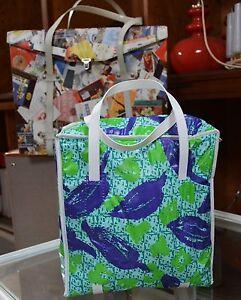 Kühltasche Tasche cool Bag Tasche 70er True Vintage 70s grün blau Sommer Party