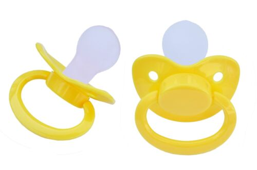 """Adult Big Pacifier  /""""Gelb/""""  SILICON  Size 6 ++++ ASP-Yellow S6 Nr ++++"""