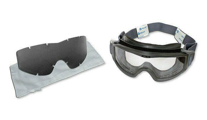 Clear and Smoke Grey Lenses ESS Flight Deck Goggle UVA Resistant