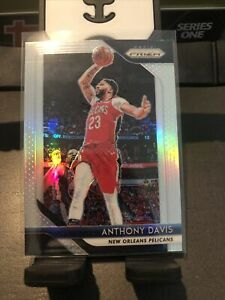 CLEAN-Anthony-Davis-18-19-Panini-Prizm-Basketball-Silver-Holo-Refractor-177