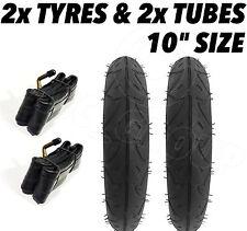 """2 x Kinderwagen Räder & 2 Rohr 10"""" 2 Quinny Buzz Speedi Huack Roadster 25.4cm"""