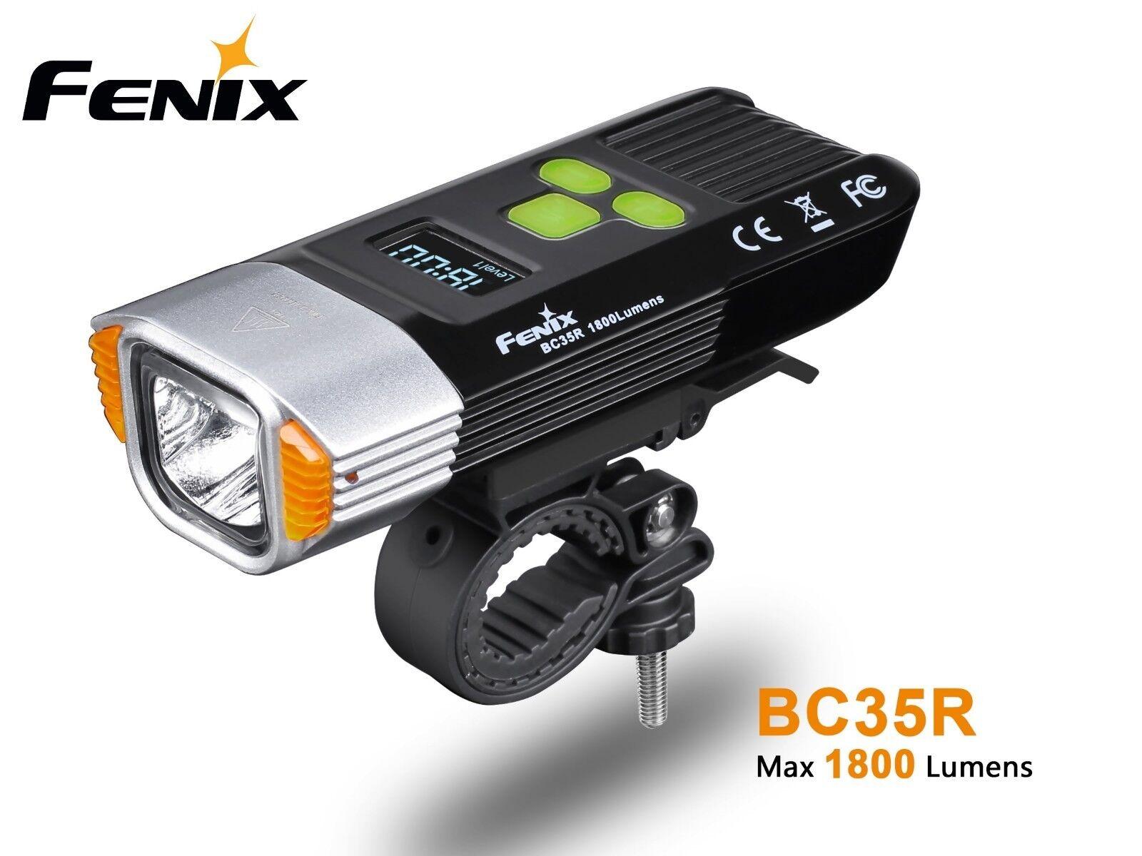 New Fenix BC35R USB Charge Cree XHP50 LED 1800 Lumens Bike Bicycle Flashlight
