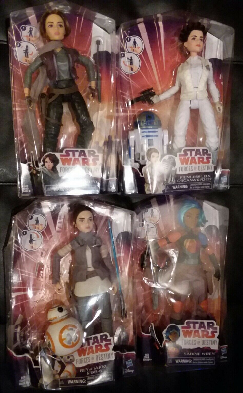 Star wars forces of destiny  lot 4 dolls