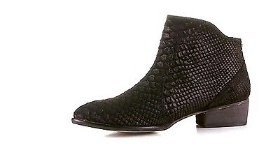 "Seychelles ""reunited"" Embossed Black Suede Ankle Boots Sz.7m Nwob $140.00 Latest Fashion Clothing, Shoes & Accessories"