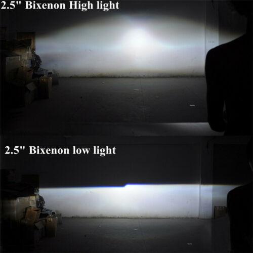 "2.5/""Bi xenon hid Projector lens led dayrunning shrouds white angel red demon eye"