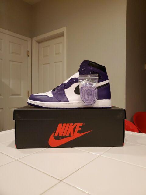 Nike Air Jordan 1 Retro High OG Court Purple 555088-500 Men's Size 10.5