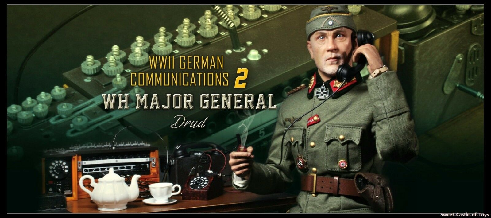 1 6 DID Action Figure WWII German Communications 2 WH Major General Drud D80123