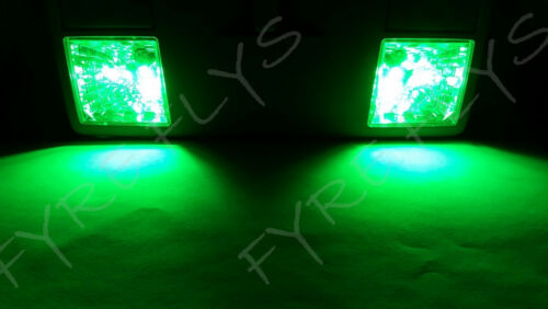 6x Green LED lights interior package kit for 1986-1992 Toyota Supra TS4G