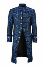 Mens Pentagramme Jacket Velvet Gothic Steampunk Victorian Frock Coat