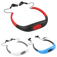 4gb/8gb Waterproof Swim Bluetooth Earphone Headset Diving Mp3 Player Fm Radio