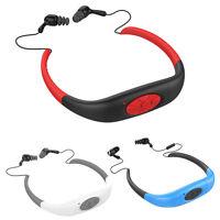 4gb/8gb Waterproof Swim Bluetooth Earphone Headset Diving Mp3 Player Fm Radio