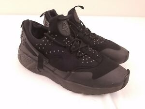 sale retailer 01341 a36a8 Image is loading Nike-Air-Huarache-Utility-Triple-Black-Running-806807-