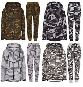 Boys-Contrast-Camouflage-Print-Tracksuit-Sweat-Top-amp-Jogging-Track-Bottoms-Set