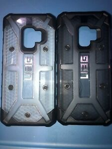 Lot-Of-2pc-Samsung-Galaxy-S9-Uag-Case-s-Clear-And-Smoke