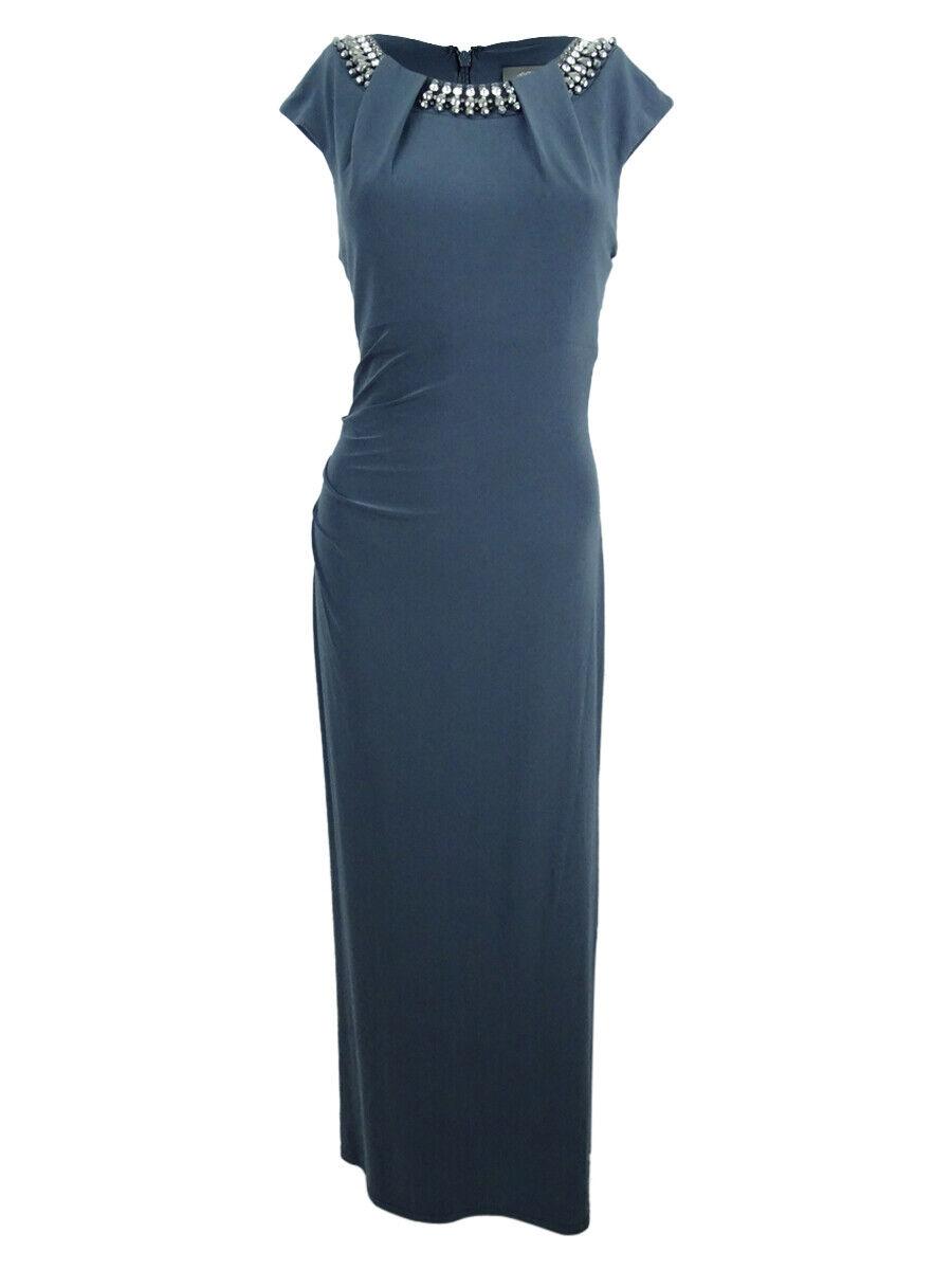 Vince Camuto Woherren Embellished Cap-Sleeve Gown