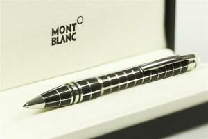 Montblanc-Starwalker-Rubber-Line-Ballpoint-Pen-Black-Silver-Trim-MB