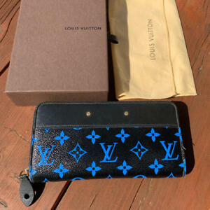 LOUIS-VUITTON-Digit-Bleu-Blue-Black-Zippy-Wallet-M67235-Monogram-2016-SS