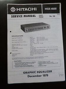 Tv, Video & Audio Service Manual Hitachi Htg-6500 Moderne Techniken