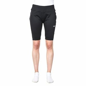 Trespass-Melodie-Womens-Black-Quick-Dry-Exercise-Cycling-Shorts