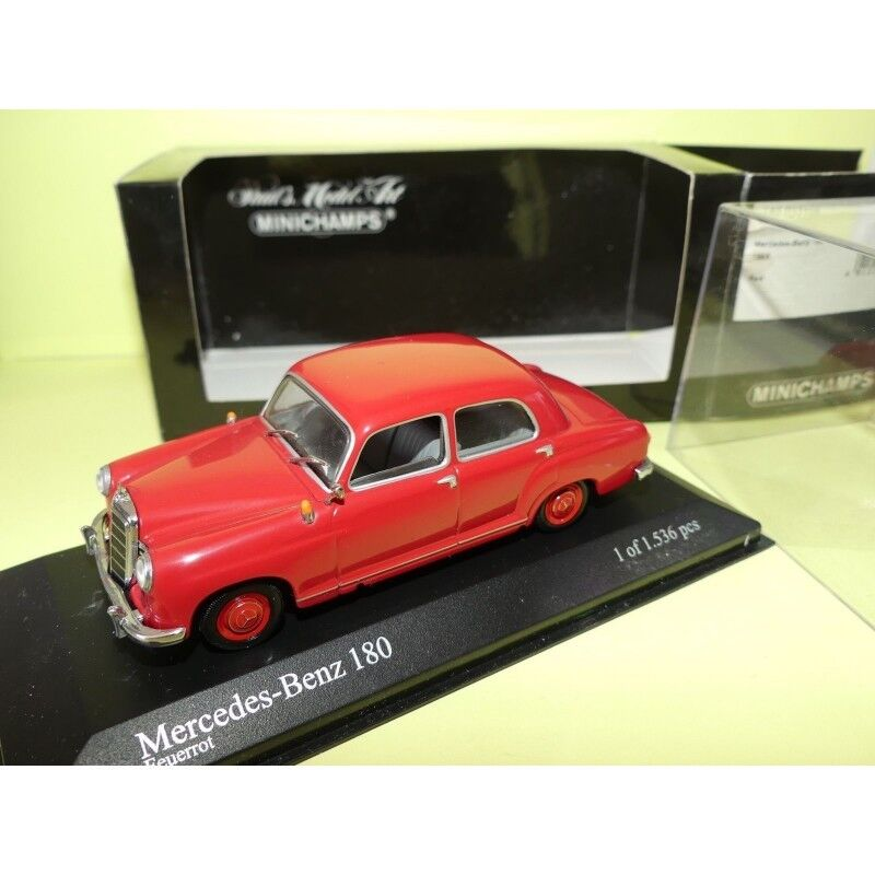 MERCEDES 180 W123 1953 red Red MINICHAMPS 1 43