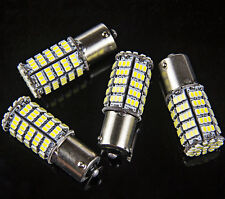 4x Ba15s 1156 White Car Rear Turn Light Signal Super Bright 127 SMD LED Bulb 12V