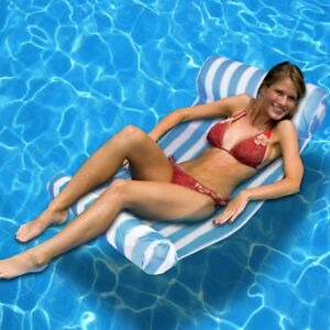 Image Is Loading New Deluxe Water Hammock Portable Textilene Pool Float