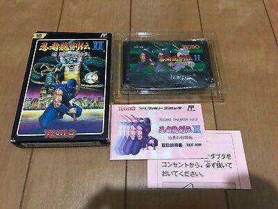 Ninja Gaiden 2 Famicom Japan Nes Box And Manual Nintendo 1990 Ebay