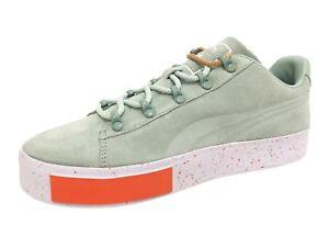 49654ebdea9c Puma x DP Court Platform SS Men Round Toe Suede Green Sneakers