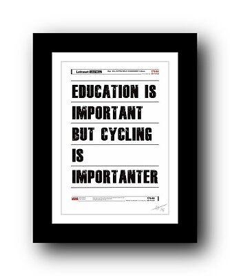 ❤ ❤ Ciclismo Typography Poster Arte Firmata Edizione Limitata Stampa-cool Regalo- Le Merci Di Ogni Descrizione Sono Disponibili