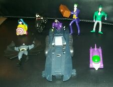 Batman toys lot action figures vehicles joker robin ridler catwoman penguin kids