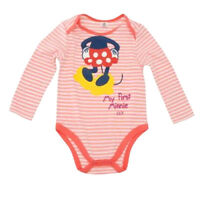 Disney Babies long sleeve Babygrow  0-3 3-6 6-9 9-12 12-18 18-24  Minnie Mouse