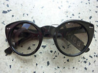 Round Cats Eye Cat Sunglasses 40s 50s Rockabilly Punk PinUp Black Leo Tortise