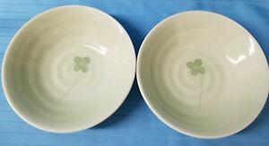 2-LEAF-Clover-Round-Soup-Salad-Bowls-Festive-St-Patty-Celtic-Green-Design-6-034