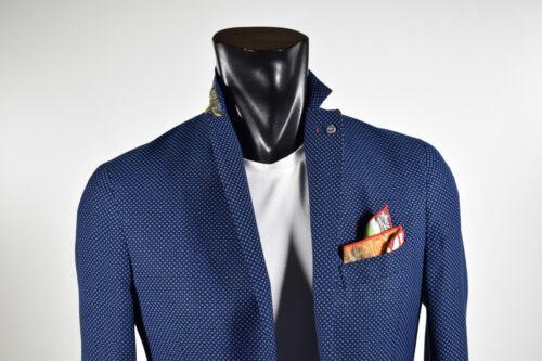 Falko Slim Giacca Collezione 2019 Misto Moda Fit Sfoderata Rosso Blu Viscosa aS5qCwxSP