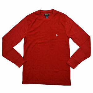 Polo-Ralph-Lauren-Mens-Waffle-Knit-Tee-Thermal-T-Shirt-Long-Sleeve-New-S-M-Xl