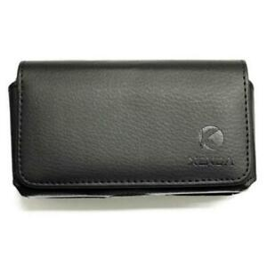 BLACK HORIZONTAL LEATHER SIDE CASE COVER PROTECTIVE POUCH BELT for CELLPHONES