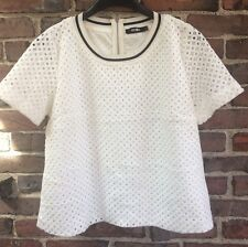 Sophyline & Company Size Large white women's top with eyelet overlay