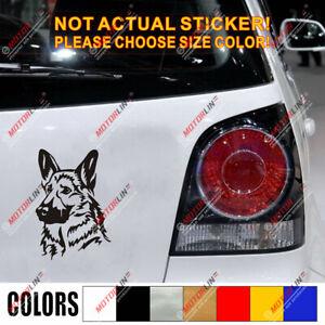 German Shepherd Head Dog Decal Sticker Car Vinyl K9 Police pick size color b