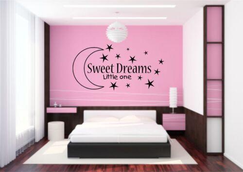 Sweet Dreams Kids Wall Art Sticker Quote Decal Transfer Mural Stencil Art Tattoo