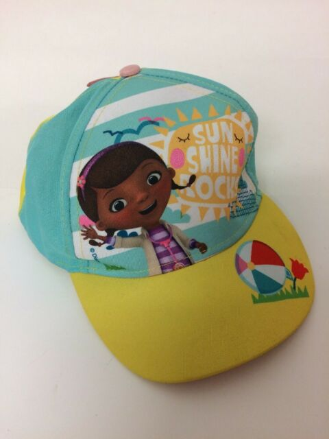 Disney Junior Doc McStuffins Girls Baseball Cap Hat 52 cms Hook Loop  Adjustable 8bd84df799dc