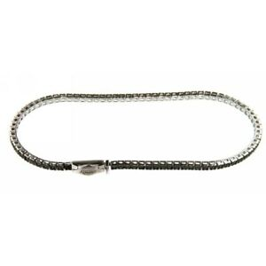 Tennis Bracelet Recarlo T39SE884/Dk Diamonds Black 0,86 CT Man Woman 20 CM