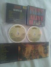 KISS ALIVE II GERMAN FIRST PRESS 2 CD SET IN FAT BOX