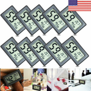 US-10PCS-Mini-Digital-LCD-Thermometer-Hygrometer-Temperature-Humidity-Meter