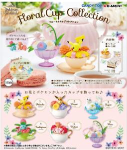 Pokemon Floral Cup Collection 6 type set Japan import Pikachu Eevee Vulpix
