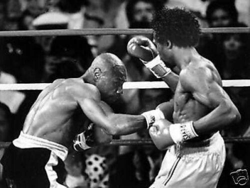 Marvin Hagler Thomas Hearns Ring Action Boxi 10x8 Photo
